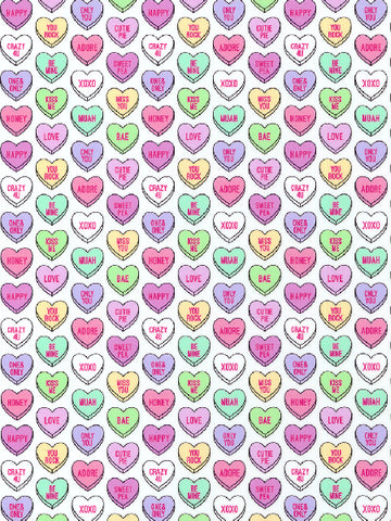 ThermoFlex Fashion Patterns - Candy Hearts