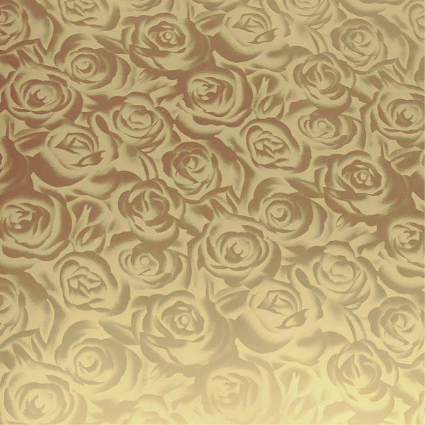 DecoFilm Soft Metallics - Gold Roses