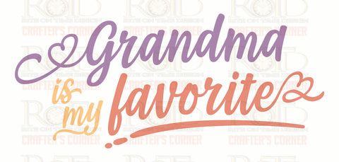 Grandma favorite Sublimation print