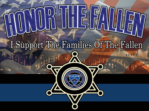 "Honor the Fallen Yard Sign 24""x18"""