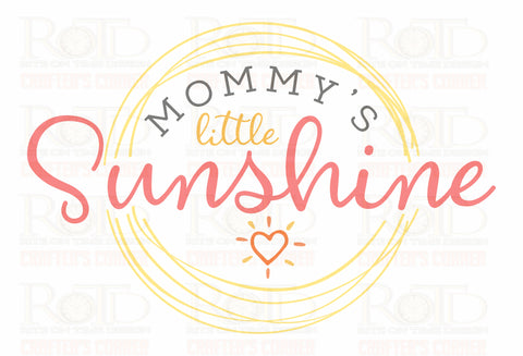 Mommy's Little Sushine Sublimation print