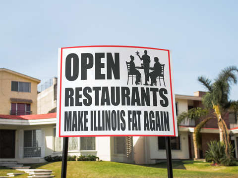 "Open Restaurants Sign 24""x18"""