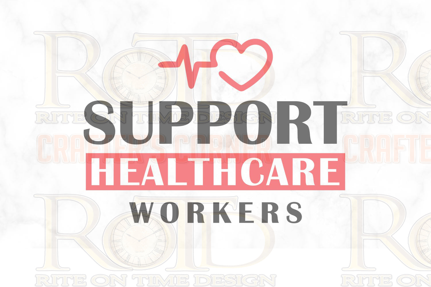 Support Healthcare Workers Sublimation print