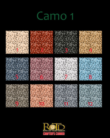 "Camo 1 12""x12 (HTV includes transfer tape)"