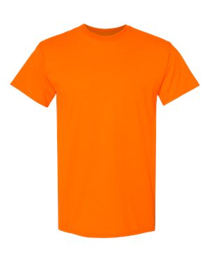 Blank Heavy Cotton Tshirt - Safety Orange