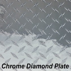 12 x 12 Sheet - StarCraft Metal- Diamond Plate Chrome