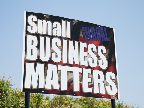 "Small Business Matters Yard Signs 24""x18"""