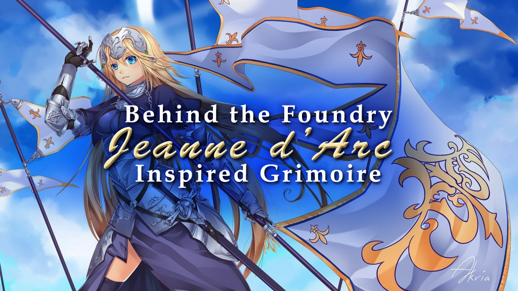 Behind the Foundry: Fate GO Jeanne d'Arc Inspired Grimoire Deck Box