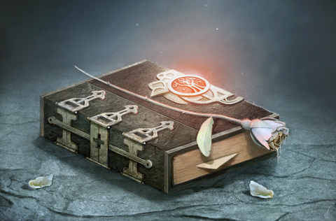grimoire deck box by wizardry foundry