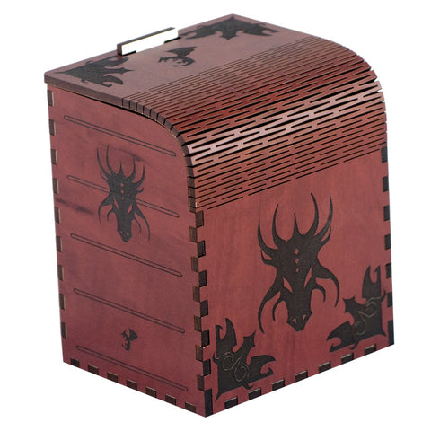 Codex Dragonlord - Precision Laser Cut Wooden Deck Box