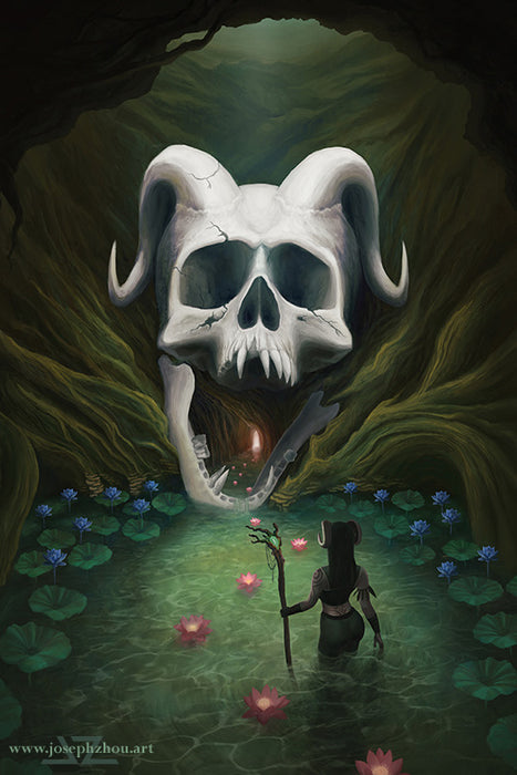 "Demon's Head by Joseph Zhou, 11×17"" Glossy Card Stock Poster Art Print"