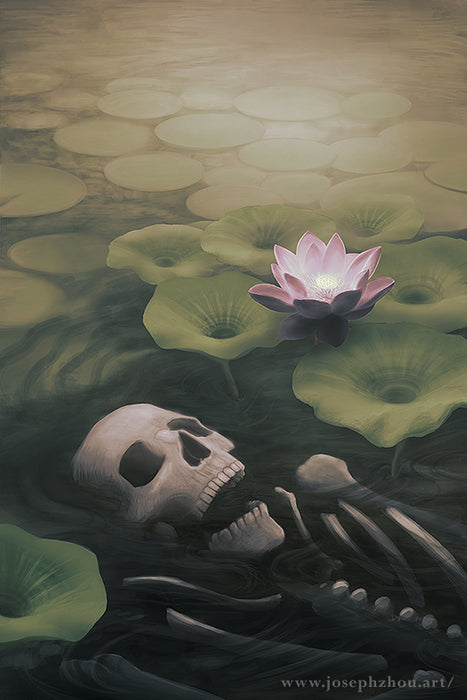 "Lotus Eater by Joseph Zhou, 11×17"" Glossy Card Stock Poster Art Print"