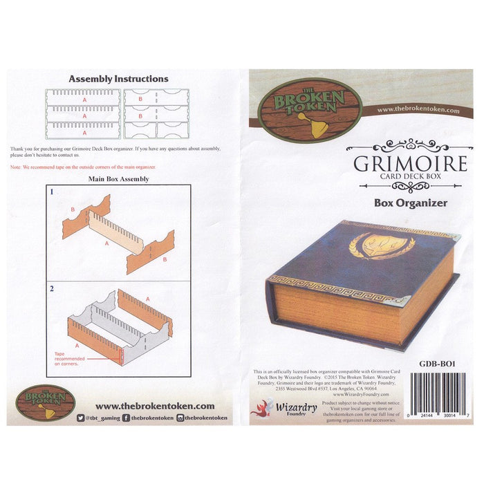 (Pre-order) Adjustable Grimoire Deck Box Organizer for MtG & DnD | Wizardry Foundry