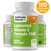 Load image into Gallery viewer, Lyposomal Vitamin C 1500mg - 180 Capsules