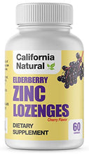 Load image into Gallery viewer, Elderberry Zinc Lozenges