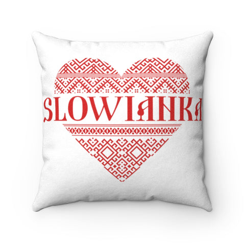 Slowianka Faux Suede Square Pillow