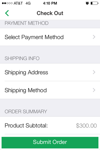 App Screencap - Payment Info