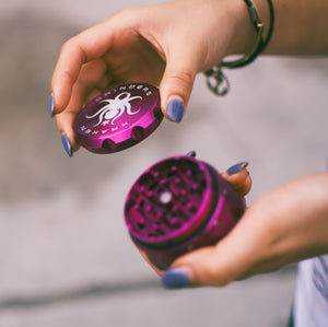 Purple Kraken Grinder - Ergonomic Grinder for Marijuana