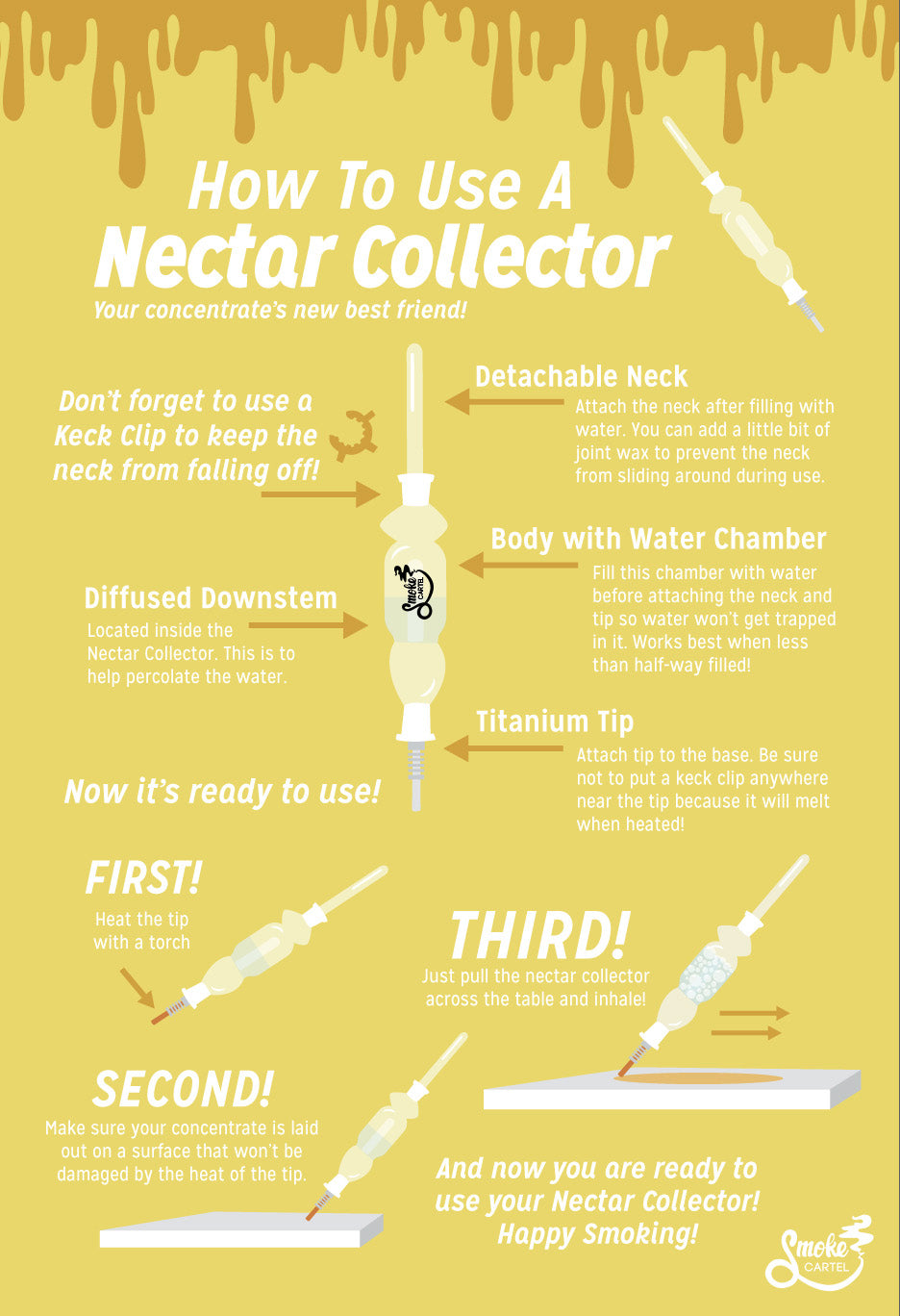 How to Use a Nectar Collector - Infographic
