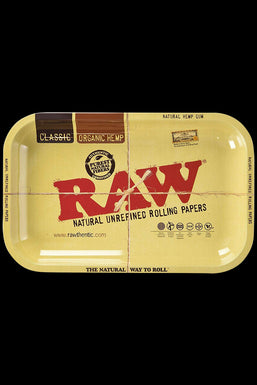 RAW Aluminum High Sided Rolling Tray