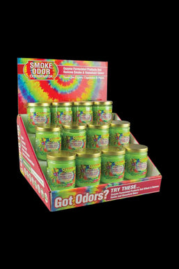 "Smoke Odor Exterminator ""Hippie Love"" Candle - 12 Pack"