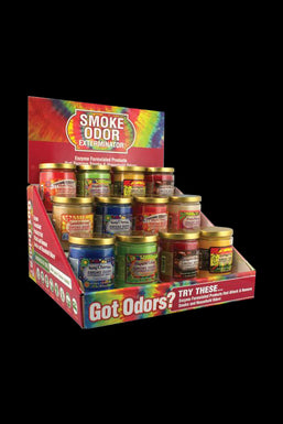 """Retro Mix"" 13oz Smoke Odor Exterminator Candle - 12pc Box"