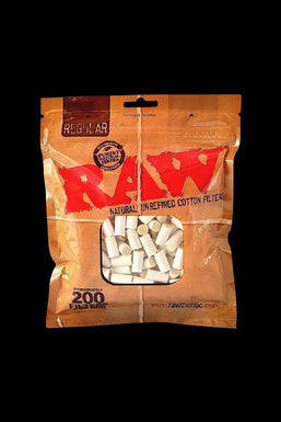 RAW Unbleached Rolling Tip Filters - Bulk 200 Pack