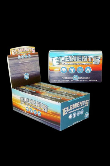 "Elements Ultra Thin 1 1/4"" Rice Rolling Papers - 20 Pack"