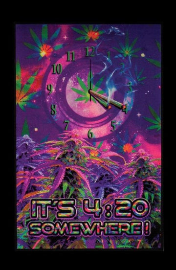 Blacklight Poster - It's 4:20 Somewhere