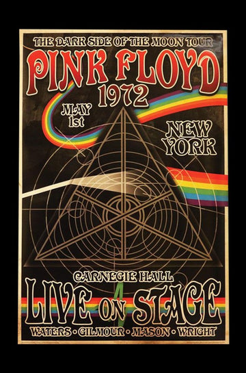 Pink Floyd Dark Side Tour Poster