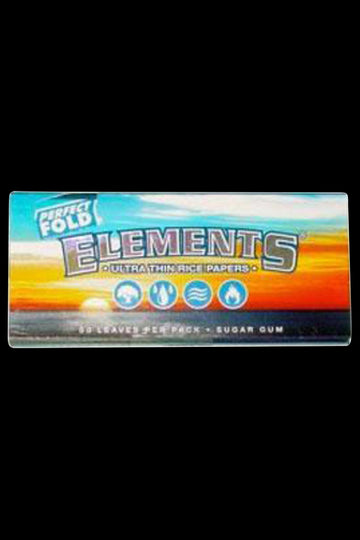 Elements Ultra Thin Perfect Fold Rice Rolling Papers - 25 Pack