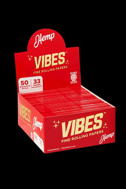 VIBES King Size Slim Rolling Papers Box - 50 Pack