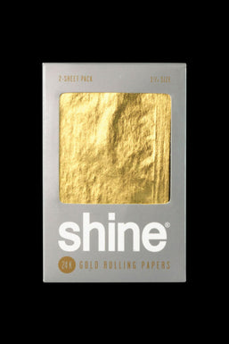 """Shine 24K Gold 1 1/4""""Rolling Papers - 2 Pack"""