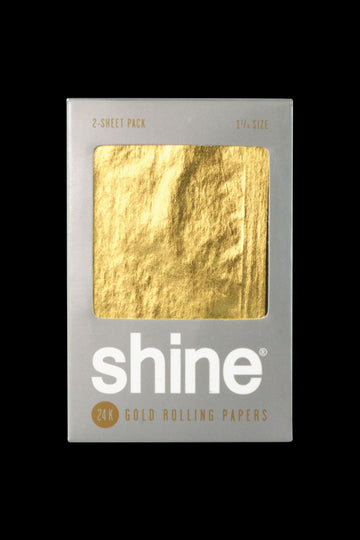 "Shine 24K Gold 1 1/4""Rolling Papers - 2 Pack"