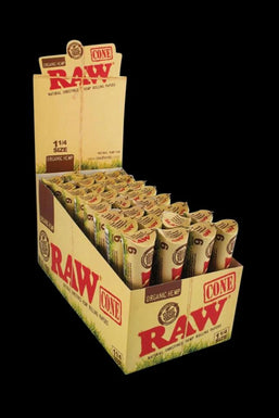 "RAW Organic Hemp Raw 1 1/4"" Prerolled Cones - 32 Pack"