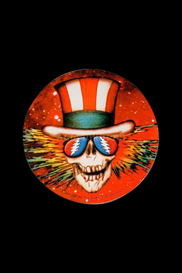 "Round ""Uncle Sam Skeleton"" Sticker"