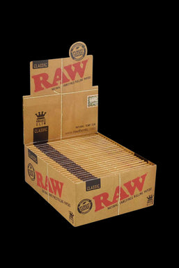 RAW Classic Kingsize Slim Rolling Papers - 50 Pack