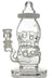 High Tech Glassworks Swiss Baby Bottle with White Accent - High Tech Glassworks Swiss Baby Bottle with White Accent