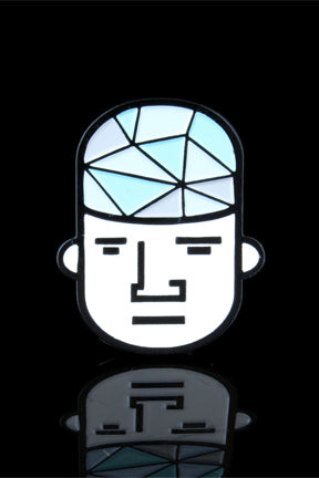 """Glass Guy"" Enamel Hat Pin - Smoke Cartel - - ""Glass Guy"" Enamel Hat Pin"