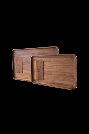 Marley Natural Black Walnut Tray with Scraper - Marley Natural Black Walnut Tray with Scraper