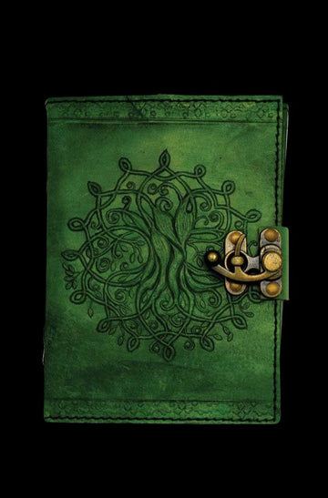"Green ""Tree of Life Mandala"" Leather Journal"