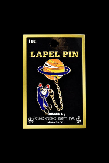 Alien Planet with Astronaut Explorer Lapel Pin