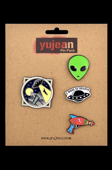 Alien Supporter Jumbo Enamel Lapel Pin Pack