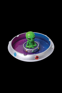 Alien in Flying Saucer Ashtray