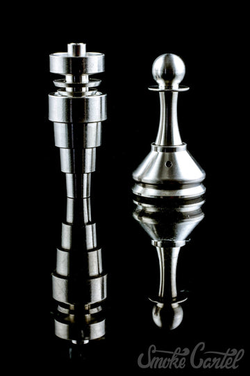 Super Universal and Carb Cap - Super Universal Titanium Nail and Titanium Pawn Carb Cap Bundle