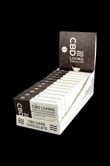 CBD Living Dark Chocolate Bar - 12 Pack