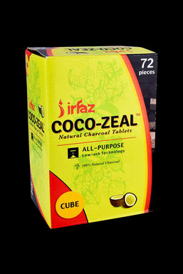 Coco-Zeal Natural Coconut Charcoal Cube Tablets - 72 Pack