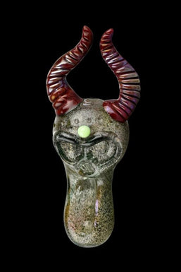"""The Punisher"" Devil Skull Fumed Glass Pipe"