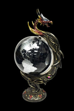 Badass Dragon Spinning Desk Globe