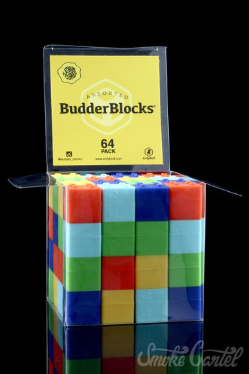 "64 Pack of Solid Color 2"" Budder Blocks - ErrlyBird BudderBlocks 64 Pack"